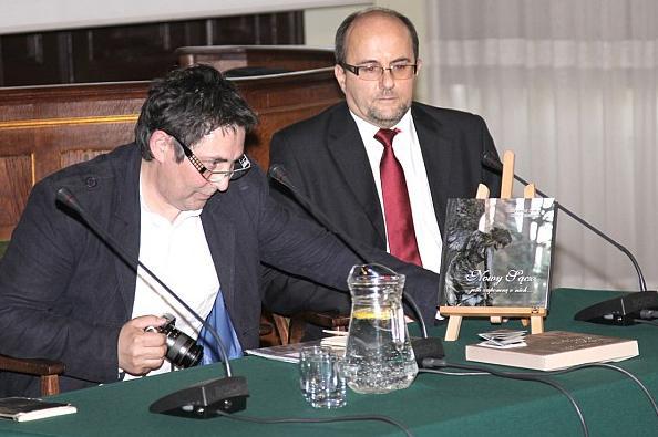 Piotr Droździk i Bogusław Kołcz na promocji książki