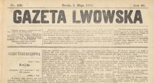 """Gazeta Lwowska"" 2 maja 1900 r."