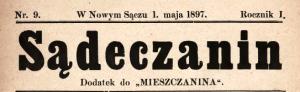 "Winieta 'Sądeczanina"" z 1 maja1897 r."