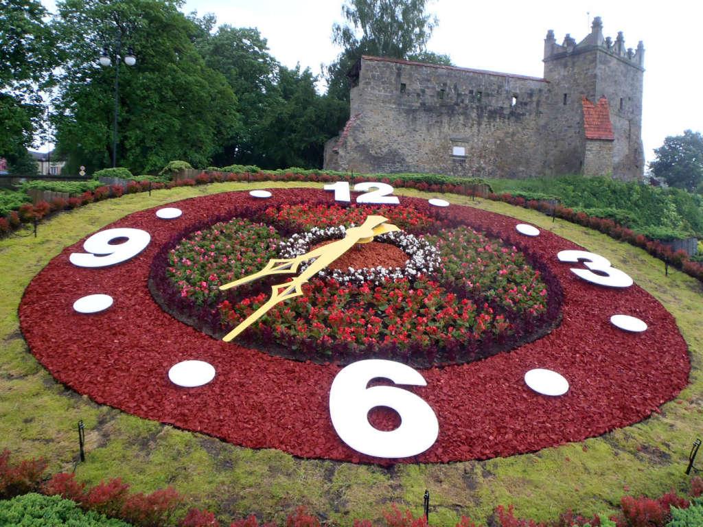 zegar kwiatowy Nowy Sącz 2014