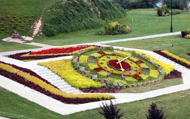 zegar kwiatowy w kompozycji sprzed kilku lat