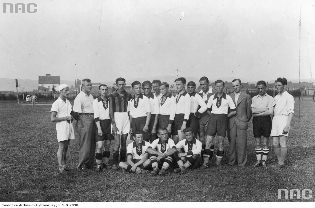 Sandecja Nowy Sącz zdjęcie grupowe 1937 NAC