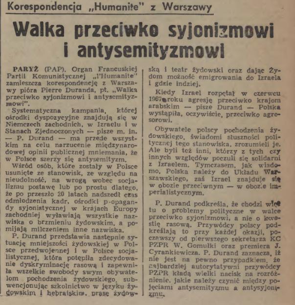 Dziennik Polski - 20 kwietnia 1968 roku.