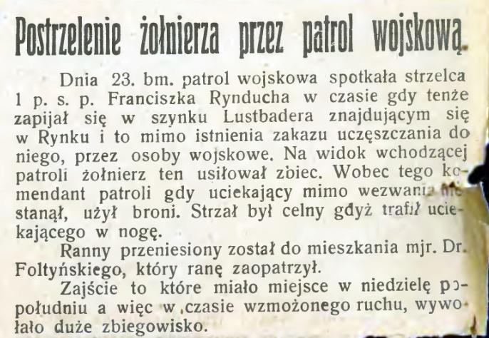 prasa międzywojennego Sącza Kurier Podhalański 1929