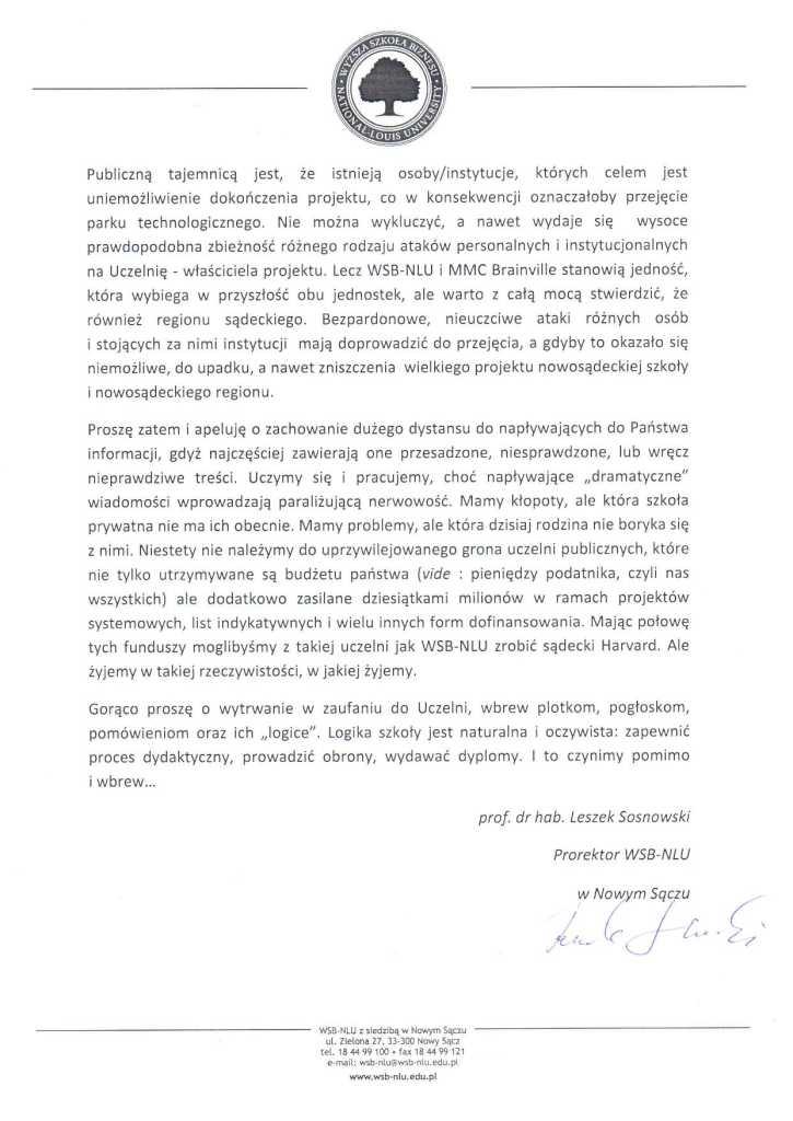 komunikat WSB-NLU page 2