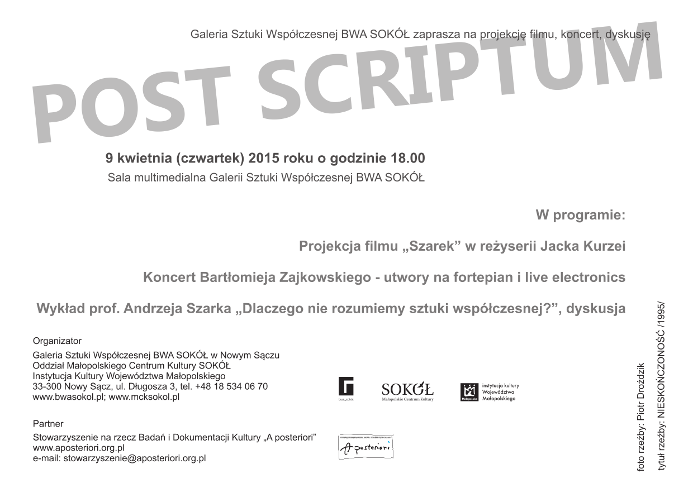 Szarek Post Scriptum