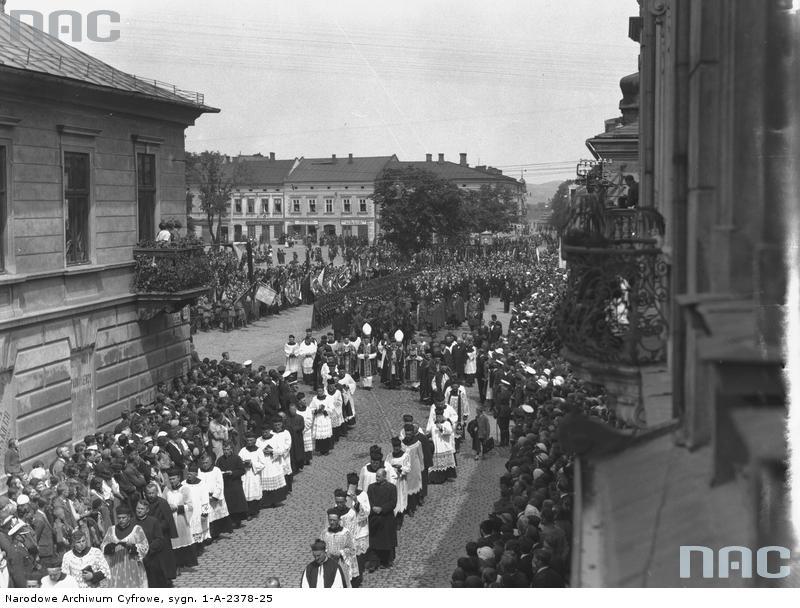 Pogrzeb Pierackiego Nowy Sącz Rynek / Jagiellońska