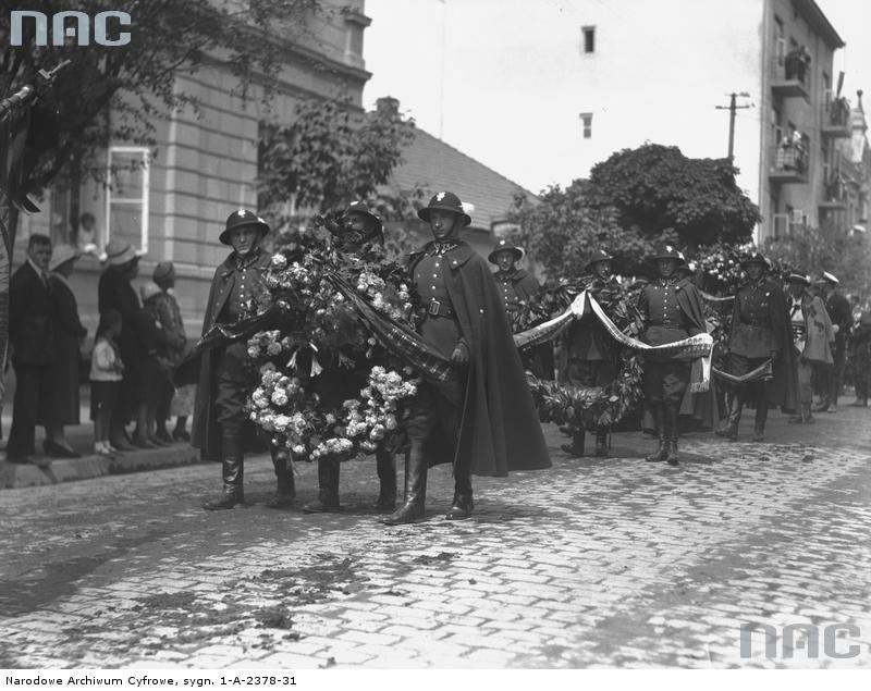 pogrzeb Bronisława Pierackiego Jagiellońska Nowy Sącz