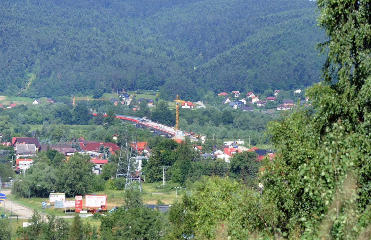 obwodnica północna widok na nowy most na Dunajcu