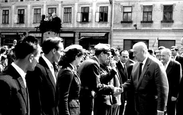 Cyrankiewicz w Nowym Sączu 1960