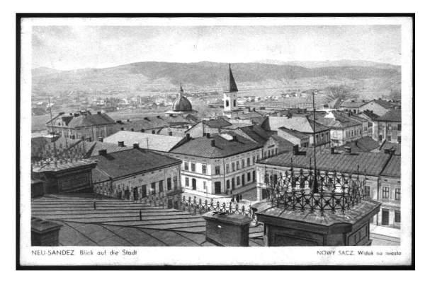 Nowy Sącz widok na miasto ok. 1940
