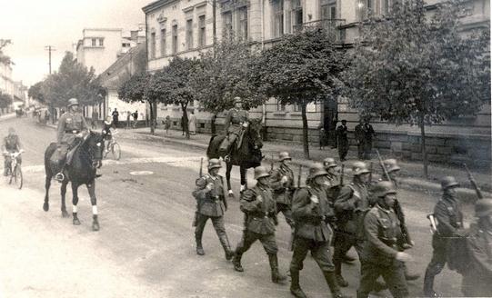 początek wojny w Nowym Sączu - wkroczenie wojska do miasta 1939