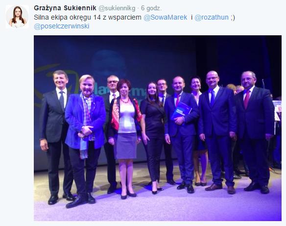 Grażyna Sukiennik tweet