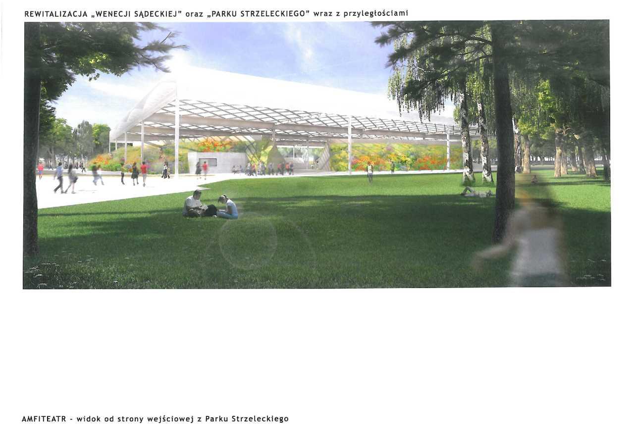projekt rewitalizacji Parku Strzeleckiego amfiteatr