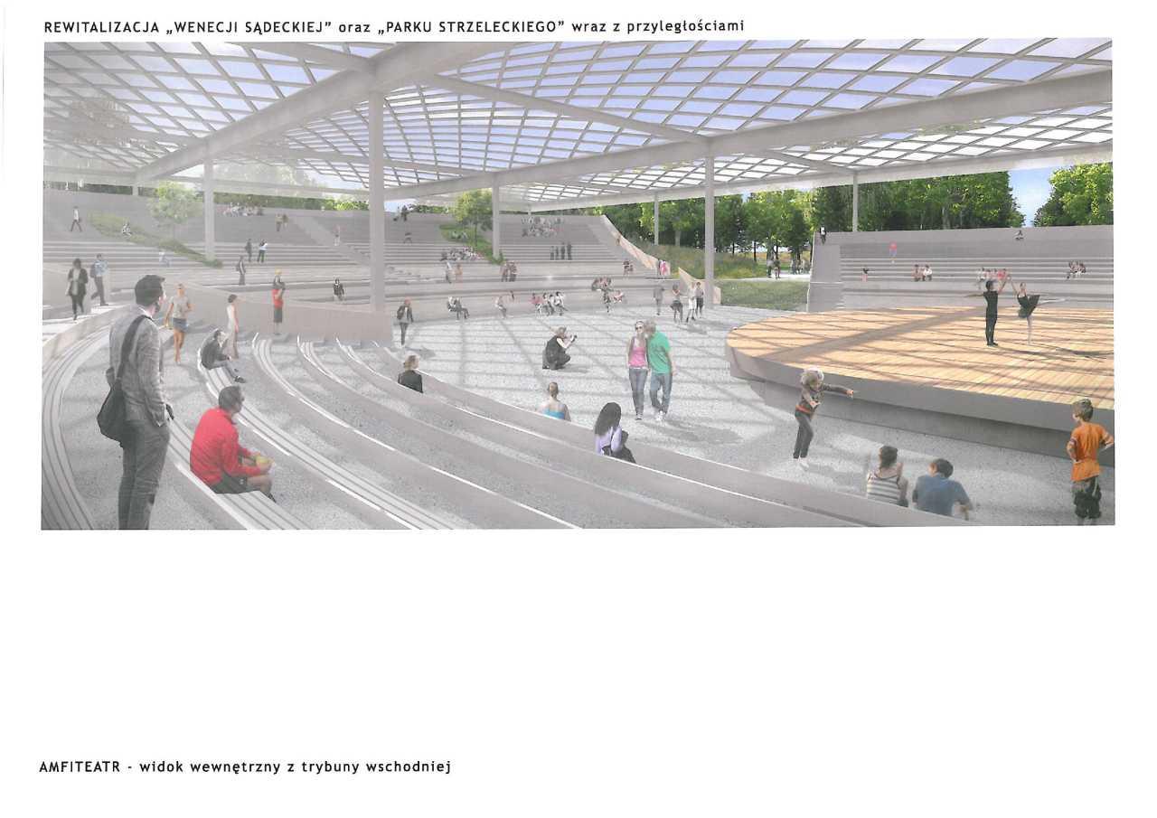 Park Strzelecki Nowy Sącz projekt amfiteatru Laboratorium Architektury