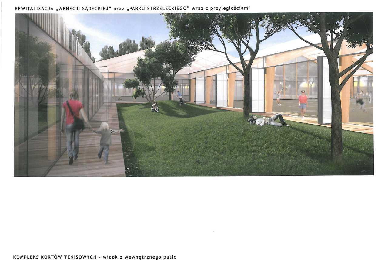 projekt rewitalizacji Parku Strzeleckiego w Nowym Sączu