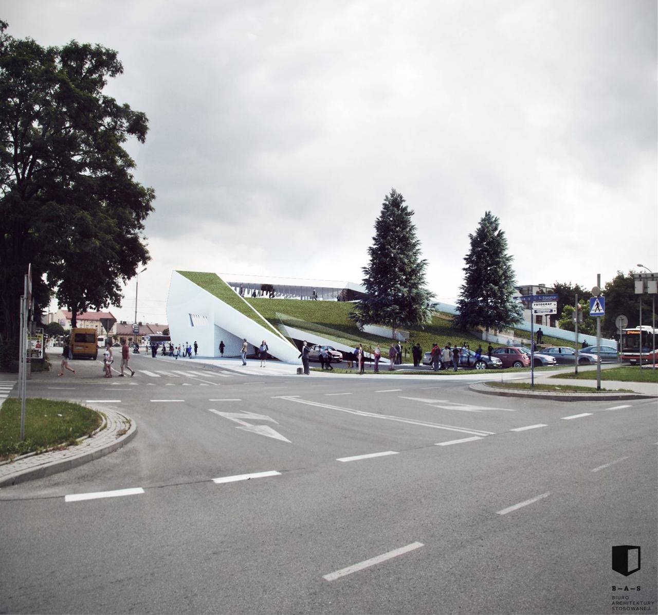 MDA Nowy Sącz projekt dworca 3