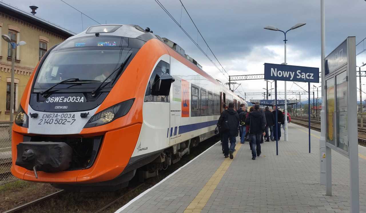 pociągi Nowy Sącz Stary Sącz