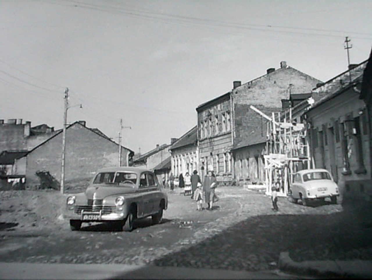 zabudowa ul. Wałowej w Nowym Sączu 1960