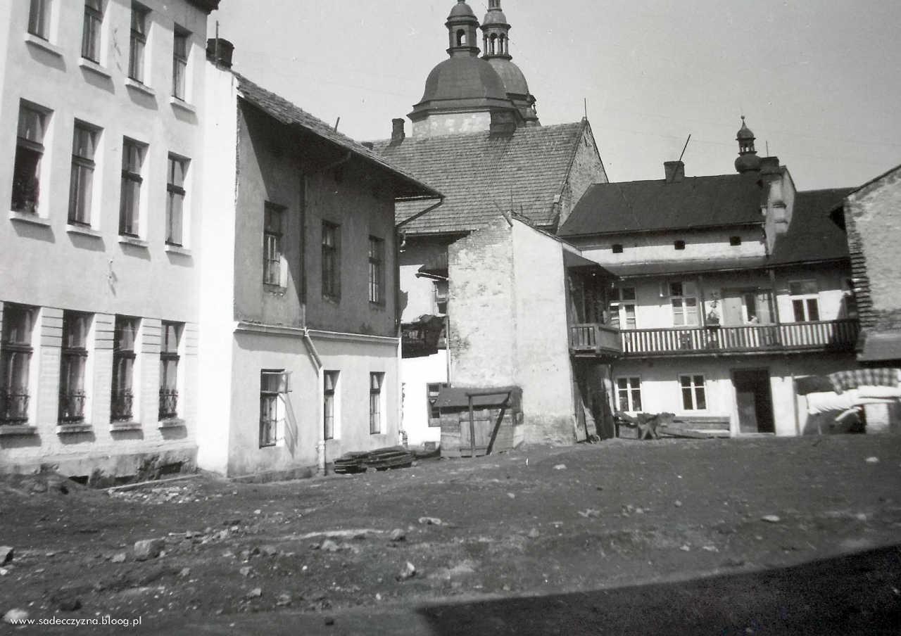 podwórko przy ul. Wałowej, 1960