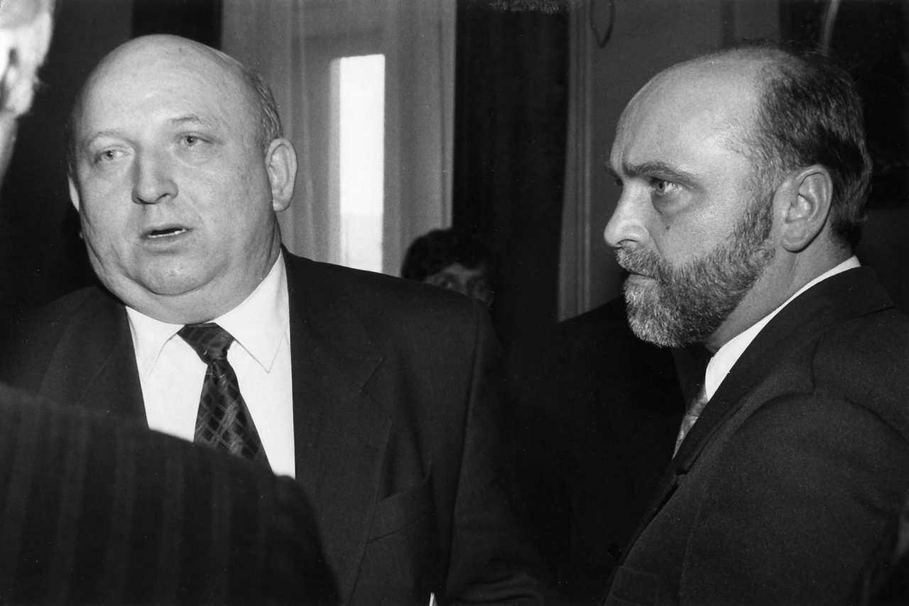 Józef Oleksy i Jezry Gwiżdż