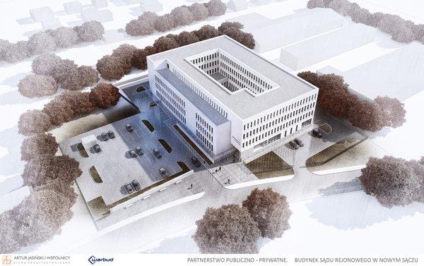 Wizualizacja nowego Sądu Rejonowego w Nowym Sączu