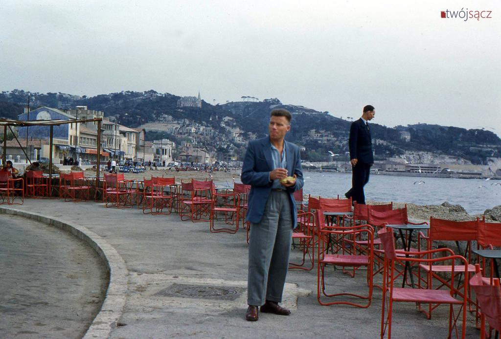 Jurek Buchwald w Marsylii 1956