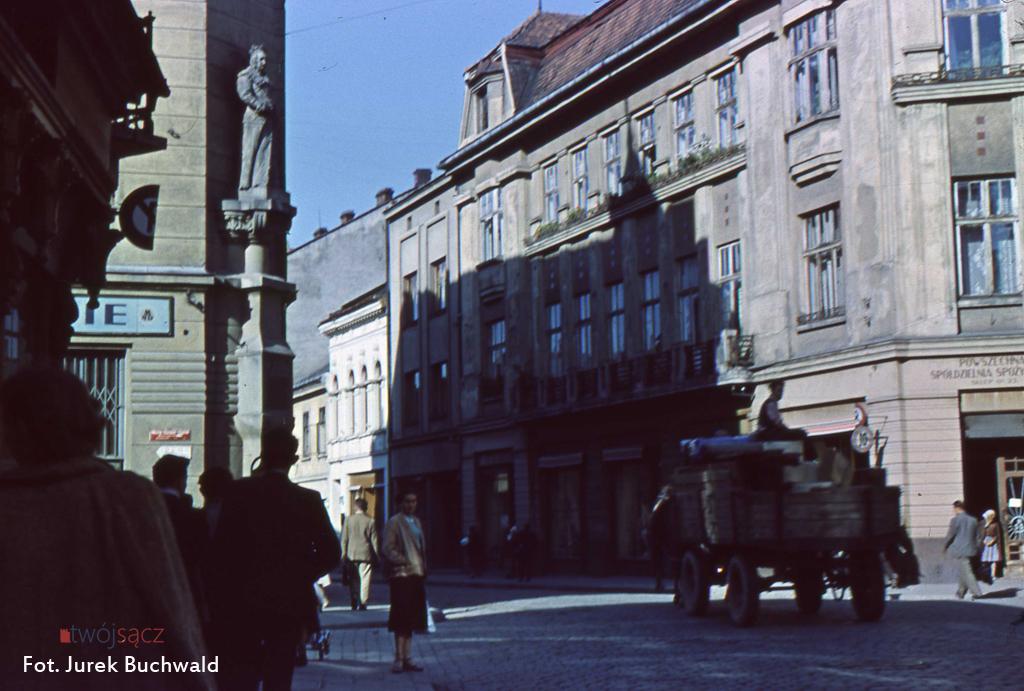Nowy Sącz w kolorze 1956 Jagielońska