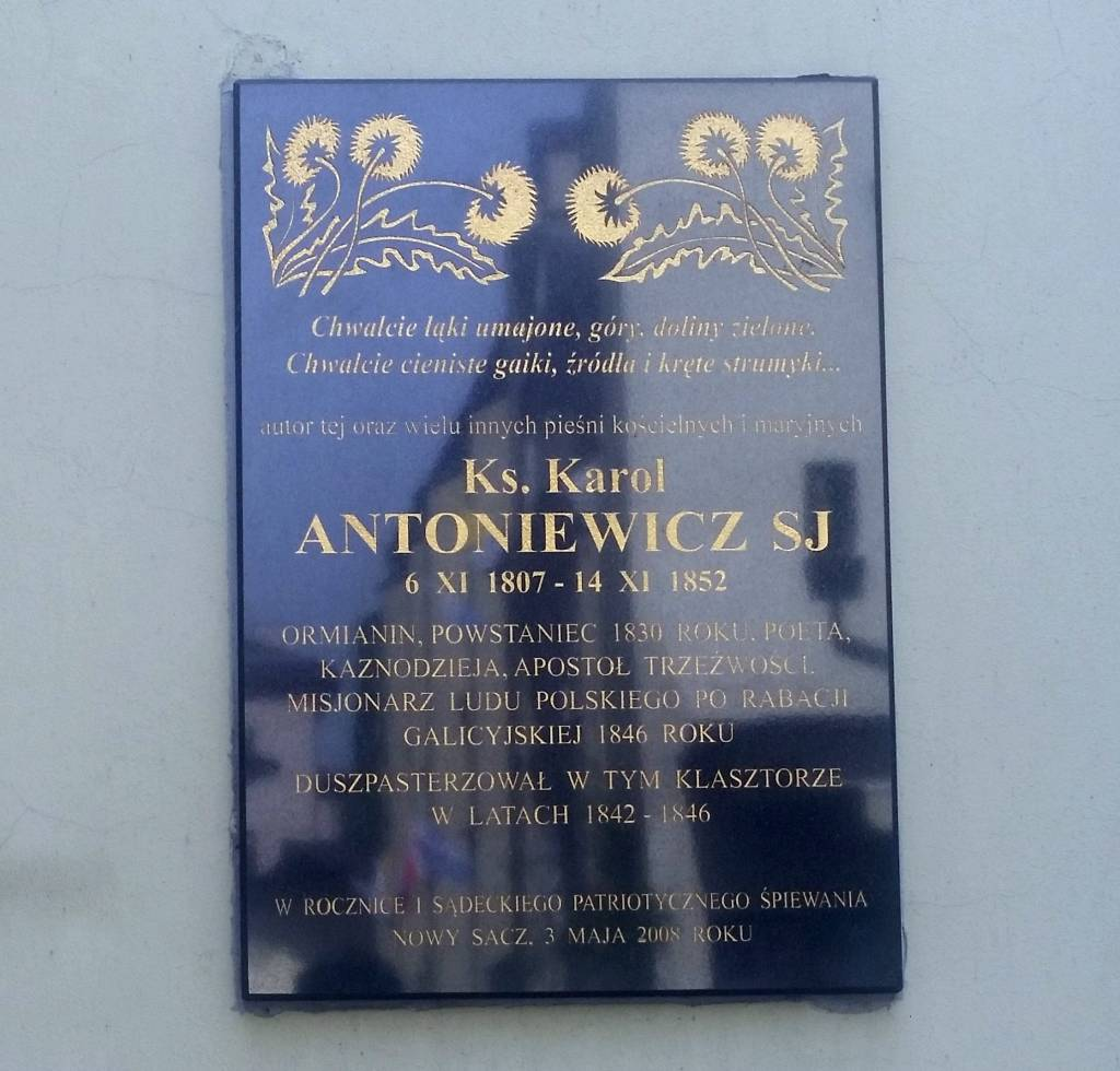 ks. Karol Antoniwicz - tablica w Nowym Sączu