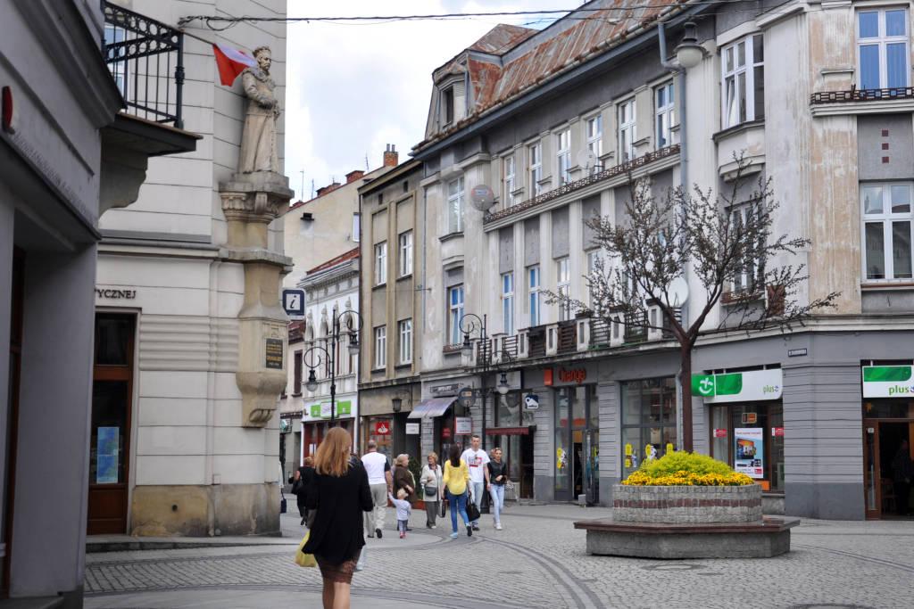 Nowy Sącz ulica Jagiellońska 2016