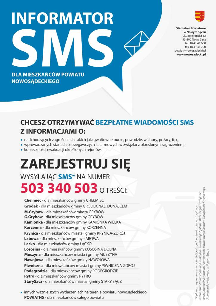 SMSy alarmowe_plakat