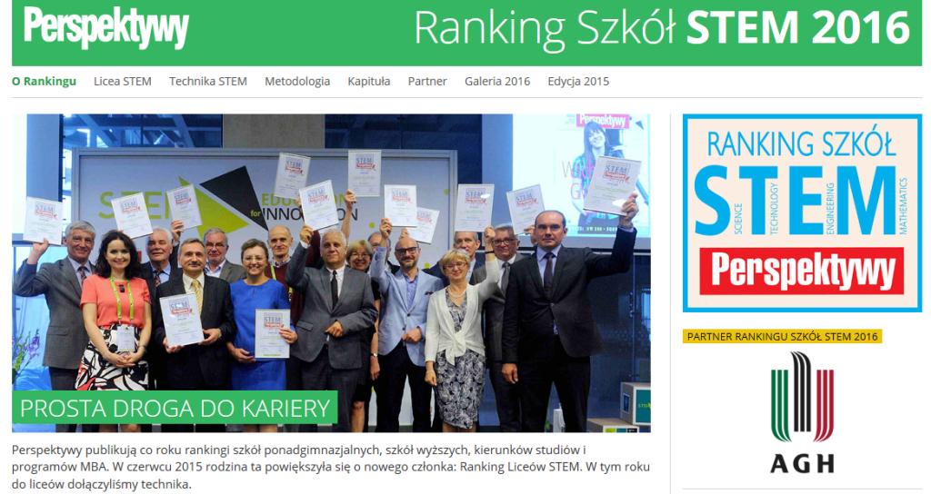 ranking Szkół STEM 2016