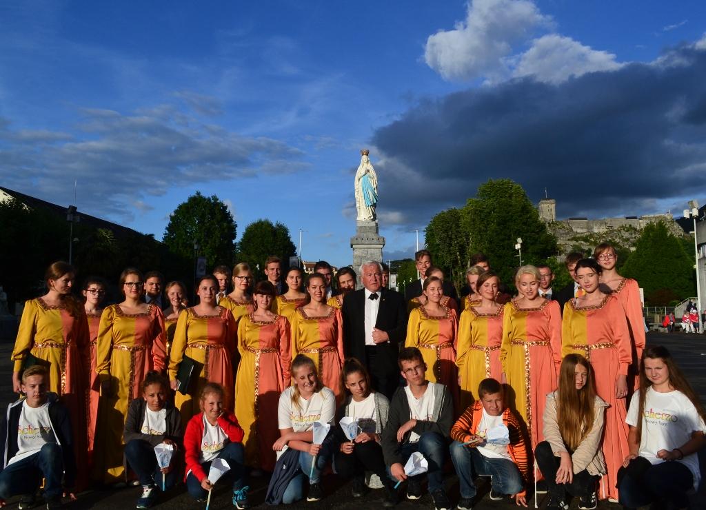 Chór Scherzo w Lourdes