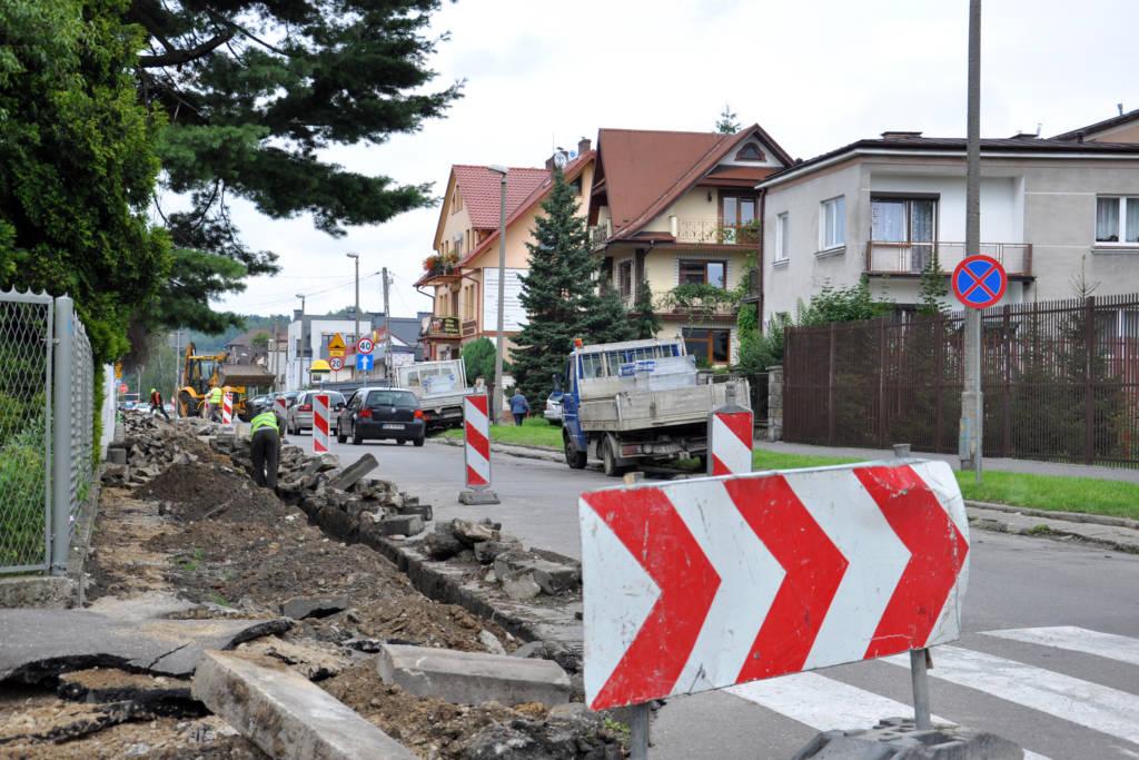 remont chodnika Kochanowskiego Nowy Sącz