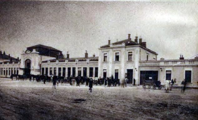 dworzec kolejowy w Nowym Sączu lata 30.