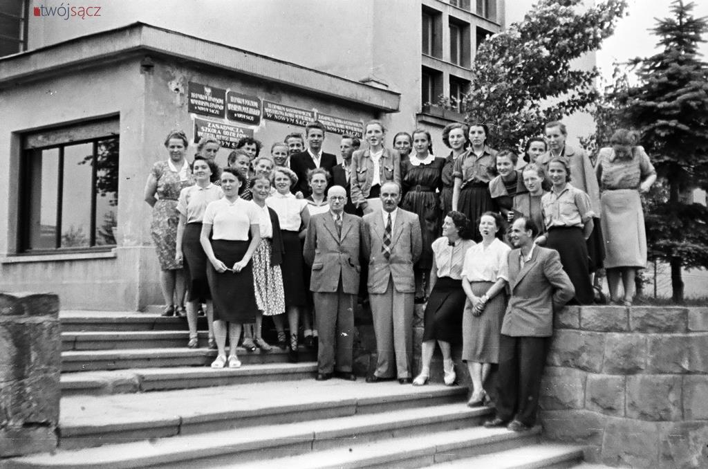 około 1955 Nowy Sącz Technikum Ekonomiczne