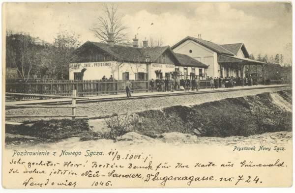 przystanek Nowy Sącz ok. 1900