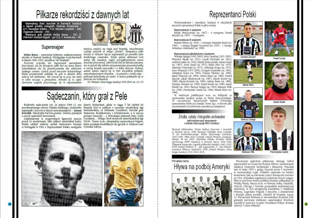 Panorama sportu sądeckiego piłkarze rekordziści
