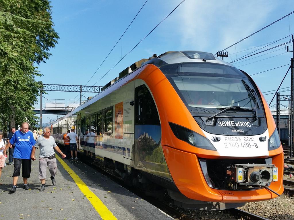 140-lecie Newag Impuls na stacji Nowy Sącz