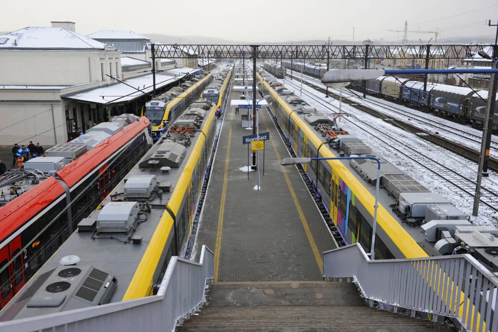 zmiana rozkładu jazdy pociągów Nowy Sącz