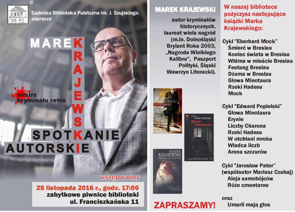 Marek Krajewski spotkanie autorskie Nowy Sącz