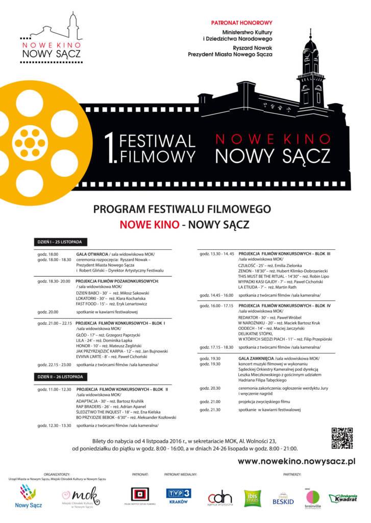 Festiwal Nowe Kino Nowy Sącz program