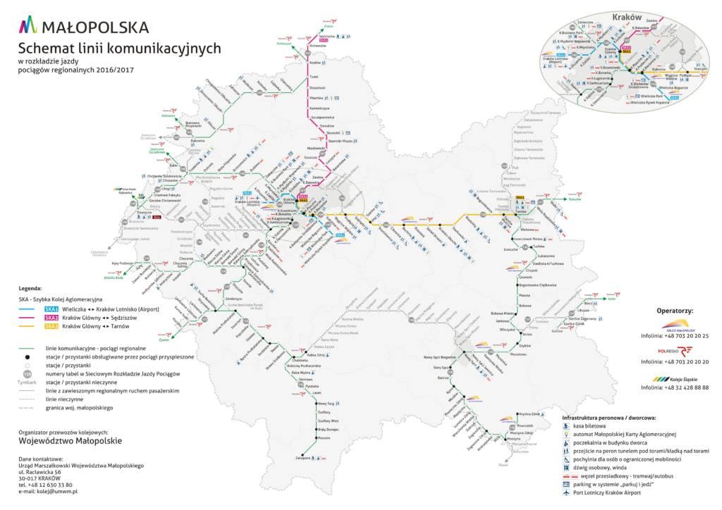 nowy cennik biletów kolei w Małopolsce