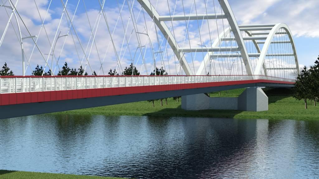 Wizualizacja nowego mostu na Dunajcu w Nowym Sączu. Fot. materiały UM NS