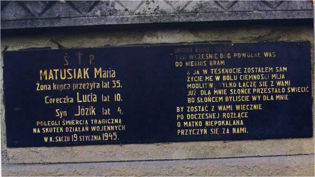 ostatnie ofiary II Wojny Światowej w Nowym Sączu