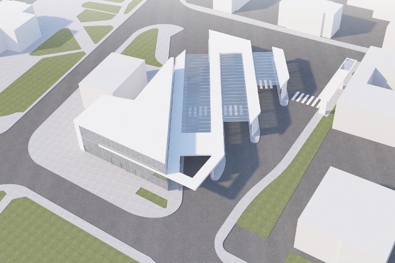 nowy dworzec MPK Nowy Sącz wizualizacja