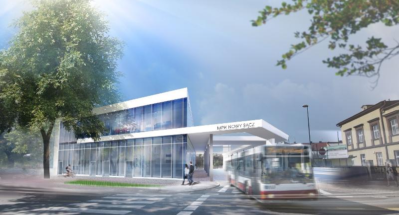 Erbet wybuduje nowy dworzec MPK Nowy Sącz