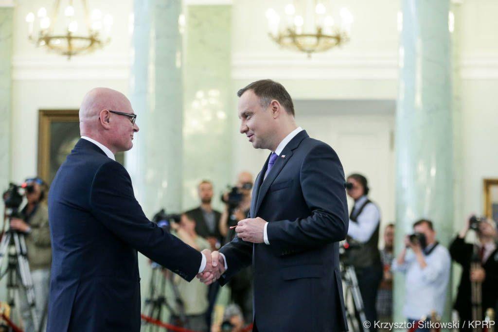 Ryszard Nowak z Krzyżem Kawalerskim Orderu Odrodzenia Polski