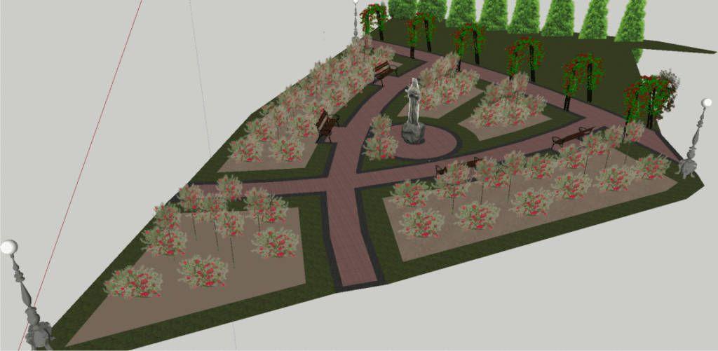 ogród różany św. Rity Nowy Sącz