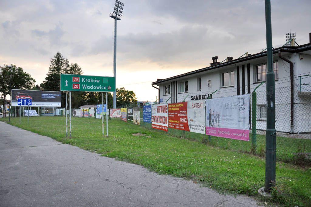nowy stadion Sandecji - sporna działka